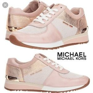 Michael Kors rose gold/ pink sneakers